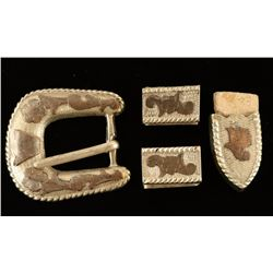 Sterling Silver Buckle, Keepers & Tip