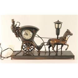 United Clock with a Buggy & Horse