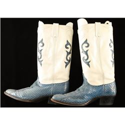 Pair of Dan Post Ladies Snakeskin Boots