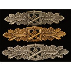 German WWII Army Bronze, Silver & Gold Clasps