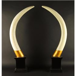 Pair of Faux Tusks