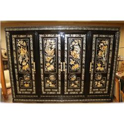 Beautiful Chinese Inlaid Armoire
