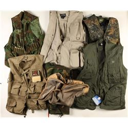 Collection of 5 Shooting/Fishing Vests