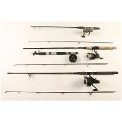 Lot of 4 Fishing Poles w/ Reels