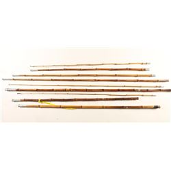 Lot of Bamboo Fishing Poles