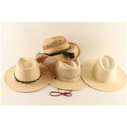 Lot of 4 Straw Hats