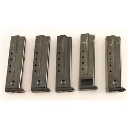 Lot of 5 Ruger PC9 Mags