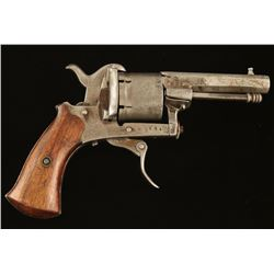 Unsigned Pinfire Revolver 7.5mm SN: 8694