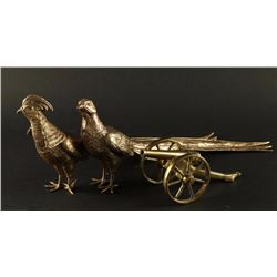 Lot of 2 Brass Pheasants