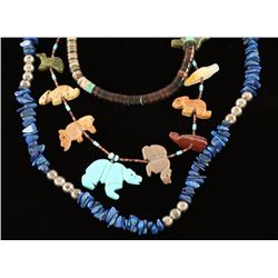 Beaded Native American Necklace Lot