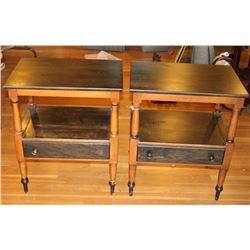 Traditional Two Toned Side Tables