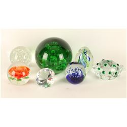 Lot of 7 Glass Paperweights