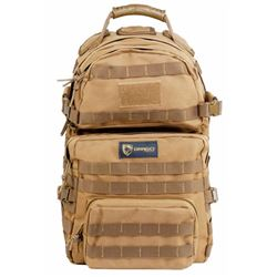 Drago Gear 14302TN Assault Backpack 600 Denier Polyester Tan