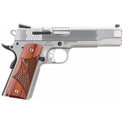 "S& W 108482 1911 E Series 45 ACP 5"" 8+1 3Dot Laminate Wood Grip Stainless"