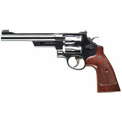 "Smith & Wesson 150341 27 Classic Single/Double 357 Magnum 6.5"" 6 Walnut Square Butt Blued"
