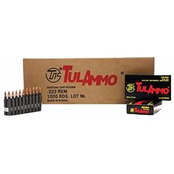 Tulammo 223 Rem/5.56 NATO 55GR - 1000 Rounds