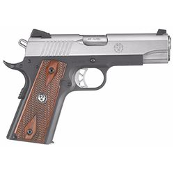 "Ruger 6711 SR1911 Single 45 Automatic Colt Pistol (ACP) 4.25"" 7+1 Hardwood Grip Stainless Steel"
