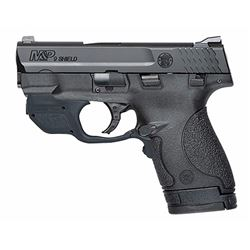 "Smith & Wesson 10141 M& P 9 Shield with Crimson Trace Green Laserguard Double 9mm Luger 3.1"" 7+1/8+1"
