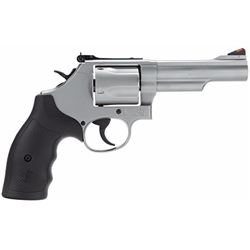 "Smith & Wesson 162069 69 L-Frame Single/Double 44 Remington Magnum 4.25"" 5 Black Synthetic Stainless"