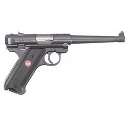 "Ruger 40105 Mark IV Standard Double 22 Long Rifle (LR) 6"" 10+1 Black Aluminum Grip Blued"