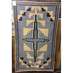 Contemporary Navajo Textile with Weavers Info