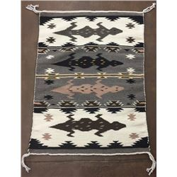 Unique Pictorial Navajo Textile