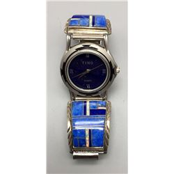 Lapis Inlay Watch Bracelet