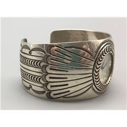 Sterling Silver Navajo Watch Bracelet