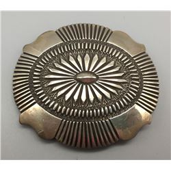 Sterling Silver Navajo Belt Buckle
