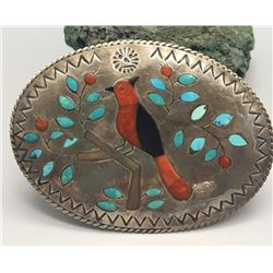 Cardinal Inlay Belt Buckle