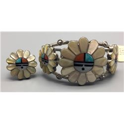 Zuni Inlay Bracelet And Ring - Laate