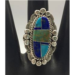 Inlay Ring - Melvin Francis - Navajo