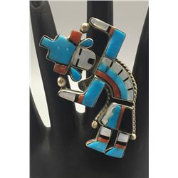 Rainbow Man Inlay Ring