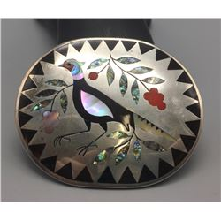 Zuni Inlay Belt Buckle - Edaakie