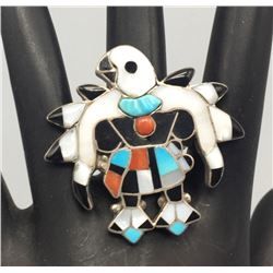 Zuni Inlay Ring - Poncho