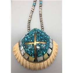 Santa Domingo Style Inlay Shell Necklace