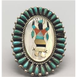 Zuni Inlay Ring - Hattie