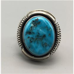 Navajo Turquoise And Silver Ring