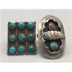 Pair Of Vintage Navajo Rings