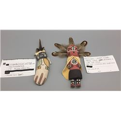 Pair Of Hopi Flat Backed Kachinas