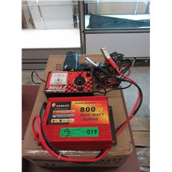 Power Inverter, AC/DC Quick Charge & Heat Blower