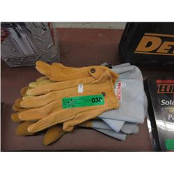 4 Pairs of Leather Gloves