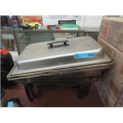 2 Commercial Stainless Steel Warming Trays