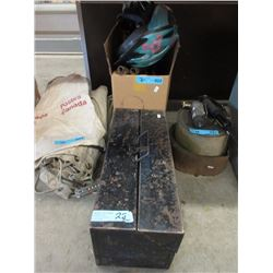Box of Assorted Tools & Metal Tool Box