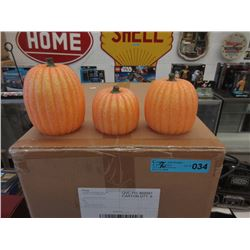 2 Cases of New Illuminated Glitter Pumpkins