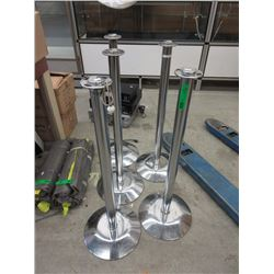 5 Metal Stanchions