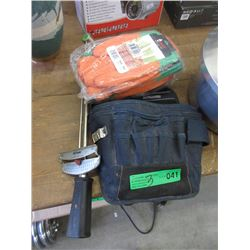 Pouch with Tools, Gloves & Torque Wrench