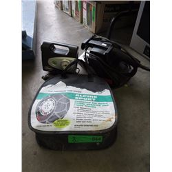 Snow Chains, Compressor & Belt Sander