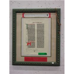 Facsimile Page of the Gutenberg Bible