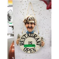 Double Sided Restaurant Sign